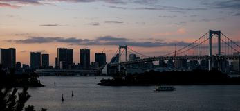 Rainbow Bridge in Tokio royalty free stock photography