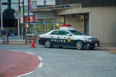 TOKIO, JAPONIA CZERWIEC 28, 2017 -: Tokio departamentu policji Wielkomiejski samochód parkujący przed środkową stacją Tokio Obrazy Royalty Free