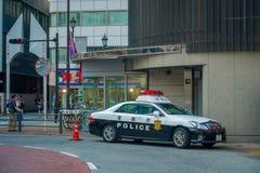 TOKIO, JAPONIA CZERWIEC 28, 2017 -: Tokio departamentu policji Wielkomiejski samochód parkujący przed środkową stacją Tokio Obraz Royalty Free