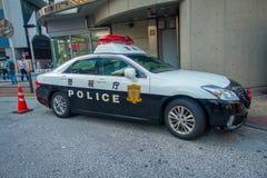 TOKIO, JAPONIA CZERWIEC 28, 2017 -: Tokio departamentu policji Wielkomiejski samochód parkujący przed środkową stacją Tokio Fotografia Stock