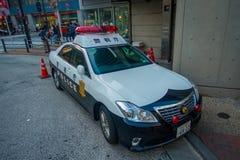 TOKIO, JAPONIA CZERWIEC 28, 2017 -: Tokio departamentu policji Wielkomiejski samochód parkujący przed środkową stacją Tokio Zdjęcie Royalty Free