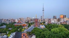 Tokio, Japonia linia horyzontu zbiory
