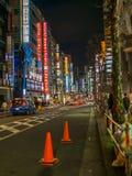 TOKIO JAPONIA, LIPIEC, - 02, 2017: Piękny noc widok ulicy Chidorigafuchi, Tokio Obraz Stock