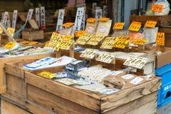 TOKIO JAPONIA, LIPIEC, - 24, 2015 varaty japończyka wysuszony jedzenie, zboże Obrazy Royalty Free