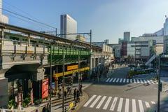 Tokio Japonia, Listopad, - 22, 2016: Akihabara jr stacja w Tokio Obraz Stock
