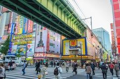 Tokio Japonia, Listopad, - 22, 2016: Akihabara okręg w Tokio, J Obrazy Stock