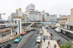 Tokio Japonia, Listopad, - 19, 2016: Jr Ueno stacja przy Ueno d Zdjęcia Stock