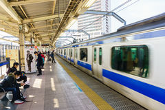 Tokio Japonia, Listopad, - 18, 2016: Shinjuku dworzec Shinjuk Fotografia Royalty Free