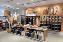 TOKIO JAPONIA, LUTY, - 5, 2019: Tokio Ginza terenu GAP sklepu wnętrze Japonia zdjęcia stock