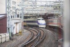 TOKIO JAPONIA, LUTY, - 23, 2016: Szybkościowa stacja kolejowa Fotografia Stock