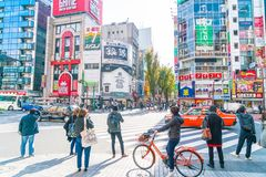 Tokio, Japonia - 2016 Nov 17: Shinjuku jest jeden Tokio busine Obraz Royalty Free