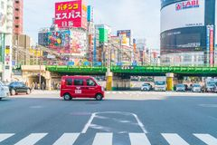TOKIO, JAPONIA - 2016 Nov 17: Shinjuku jest jeden Tokio ` s busine Zdjęcie Royalty Free