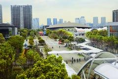Tokio, Japonia, Odaiba wyspa Bawi się powikłanego Ariake centrum sportowe Tokio Baycourt klub Zdjęcie Stock