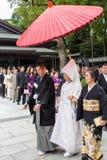 TOKIO JAPONIA, PAŹDZIERNIK, - 10, 2015: Świętowanie typowy Sintoizm fotografia royalty free