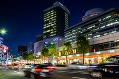 TOKIO JAPONIA, PAŹDZIERNIK, - 08, 2015: samochody w ruchu w Ginza okręgu Zdjęcia Royalty Free