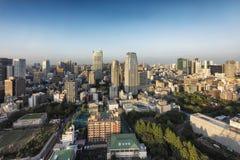 Tokio Japonia, Październik, - 2, 2016: Tokio linia horyzontu widzieć od Tokio wierza zdjęcia royalty free