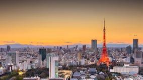 Tokio, Japonia pejzaż miejski i wierza, obraz stock