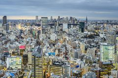 Tokio, Japonia pejzaż miejski widok fotografia stock