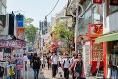 TOKIO, JAPONIA: Takeshita ulica (Takeshita Dori) Fotografia Stock