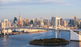 Tokio linia horyzontu Zdjęcie Royalty Free