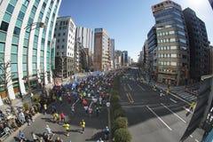 Tokio, luty 26, 2017: Maratońska rasa w Tokio Zdjęcia Royalty Free