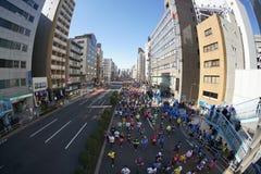 Tokio, luty 26, 2017: Maratońska rasa w Tokio Obraz Stock