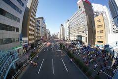 Tokio, luty 26, 2017: Maratońska rasa w Tokio Obrazy Stock