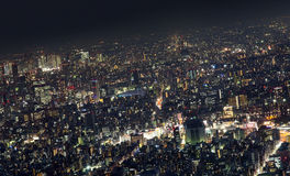 Tokio metropolia, noc Zdjęcia Stock