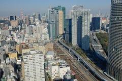 Tokio miasta linia horyzontu Zdjęcie Royalty Free