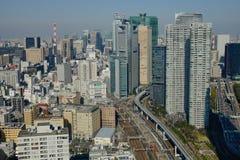 Tokio miasta linia horyzontu Zdjęcia Stock
