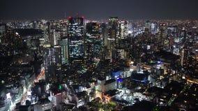 Tokio miasto przy noc?, Japonia zbiory wideo