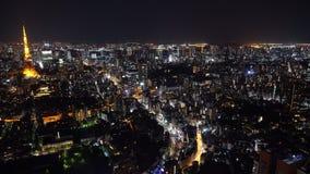 Tokio miasto przy noc?, Japonia zdjęcie wideo