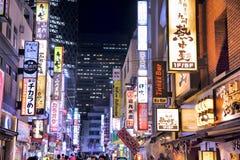 Tokio neonowi światła Obrazy Stock