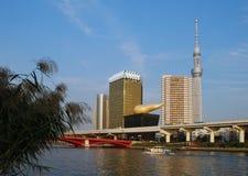 Tokio, nieba drzewa wierza Fotografia Royalty Free