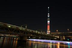 Tokio nieba drzewo Zdjęcia Stock