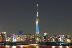 Tokio nieba drzewo Obrazy Royalty Free