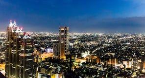 Tokio nocy widok Obraz Royalty Free