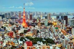 Tokio pejzaż miejski obraz royalty free