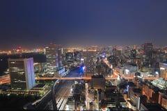 TOKIO pejzaż miejski przy Hamamatsucho światu handlem Zdjęcia Royalty Free