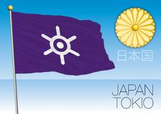 Tokio prefecture flag, Japan. Vector file, illustration Stock Photo