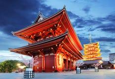 Tokio, Sensoji-ji -, świątynia w Asakusa, Japonia Fotografia Royalty Free