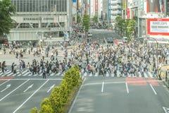 Tokio, Shibuya 20 de mayo de 2015 El distrito del shibuya en Tokio Shibuya es distrito popular en Tokio, para su cruz peatonal Foto de archivo