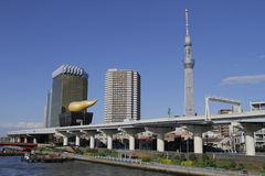Tokio Skytree od Asakusa, Japonia Fotografia Stock