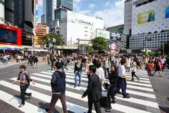 Tokio tłoczy się Zdjęcia Stock