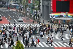 Tokio tłum Fotografia Royalty Free