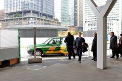 Tokio: Taxi przy Tokio jr stacją Zdjęcie Stock