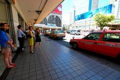 Tokio: Taxi przy Shinagawa zdjęcie stock