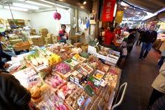 Tokio: Tsukiji owoce morza Rybi rynek fotografia stock