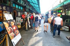 Tokio: Tsukiji rybi rynek zdjęcia stock