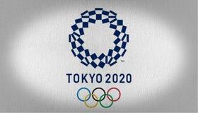 Tokio 2020 Vlag royalty-vrije stock foto's